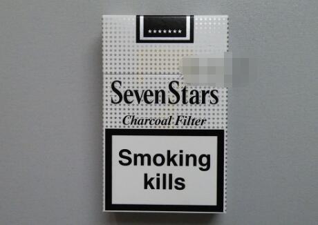 七星(硬灰)欧盟免税版 俗名: SevenStars Charcoal Filter,欧盟灰免七星价格表图片
