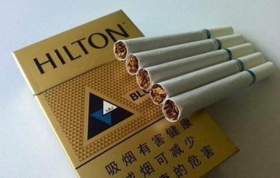 抽过的进口烟HILTON希尔顿